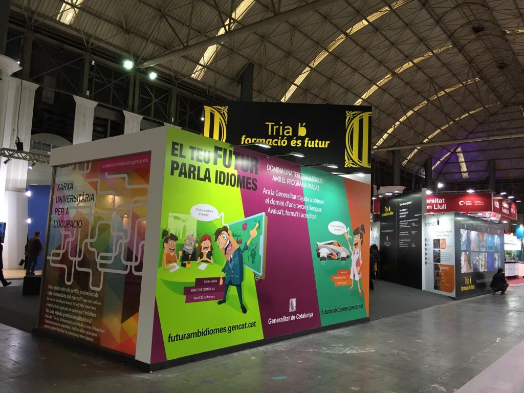 Aplicación del diseño en el stand del Saló de l'Ensenyament