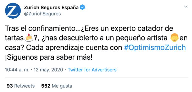 anunci twitter seguidors Zurich